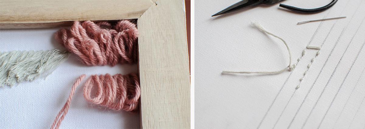 diy tenture laines facile