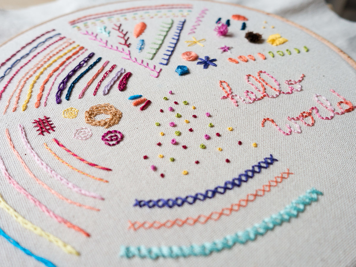 Embroidery Sampler - Detail-1