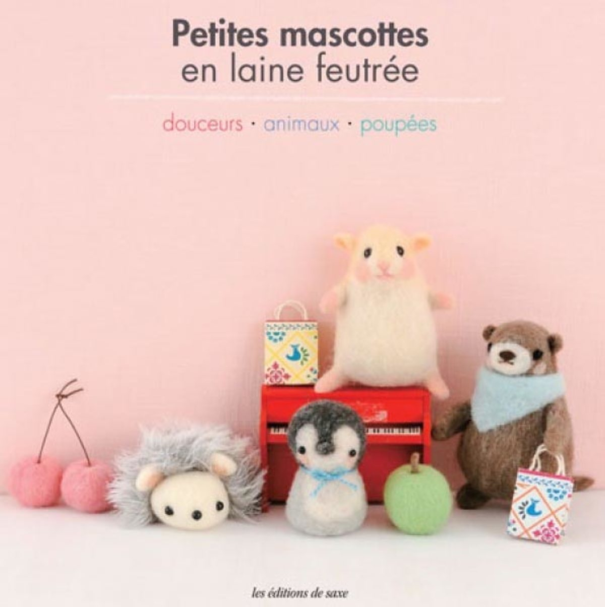 petites mascottes en laine feutree