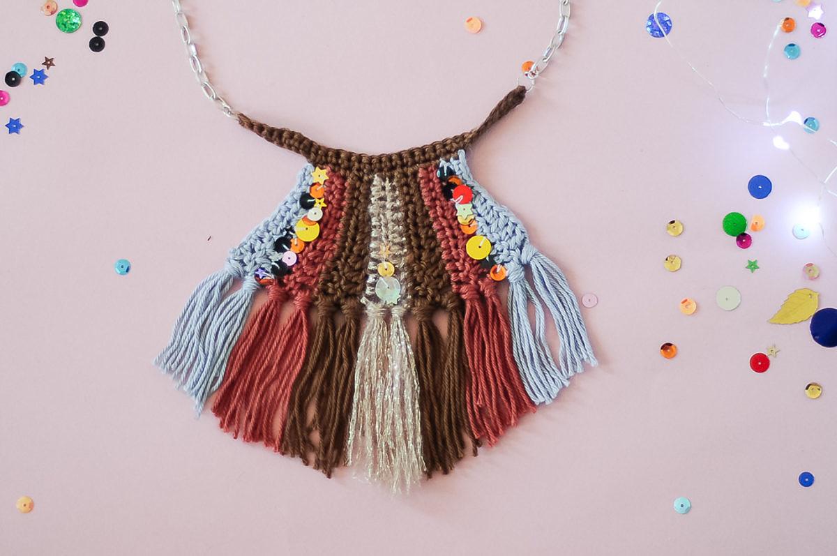 tuto collier crochet ethnique