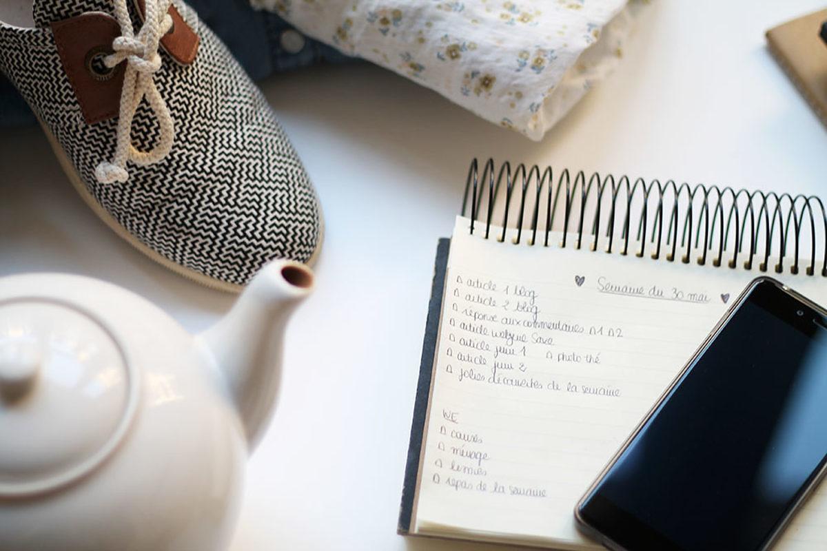 3 outils pour s'organiser plus facilement au quotidien - Bien-être - Le journal de Saxe x Miss Blemish