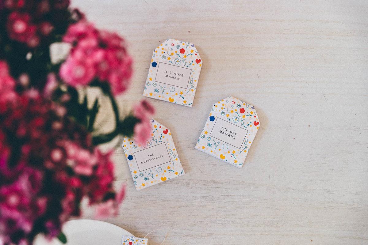 Kit à thé pour la fête des mères à imprimer