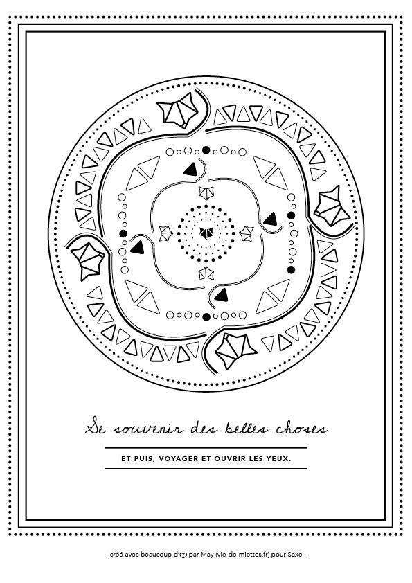 Mandalas à imprimer par Vie de miettes
