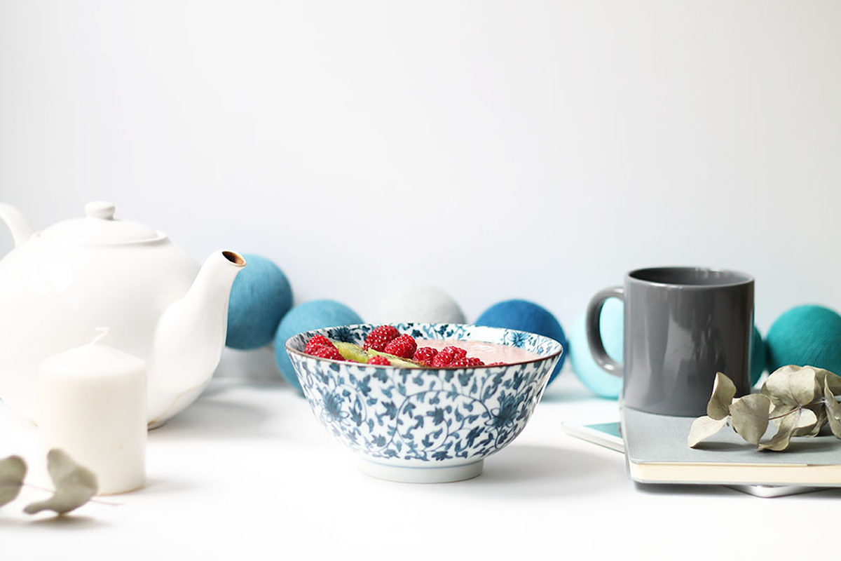 Smoothie bowl framboise melon fleur d'oranger - Le journal de Saxe x Miss Blemish
