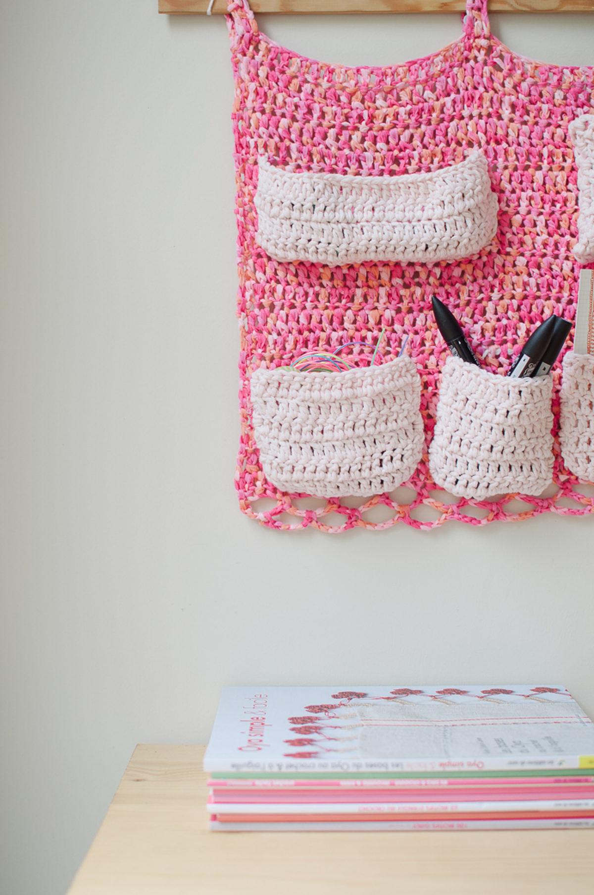 rangement mural crochet facile