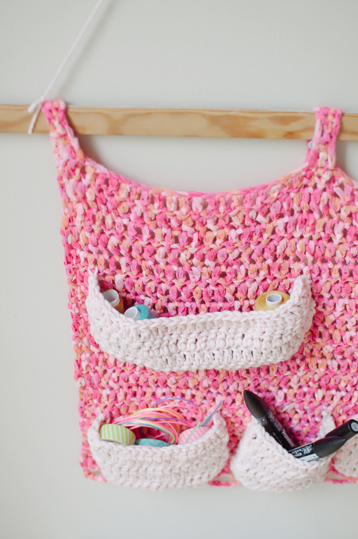organisateur bureau diy crochet