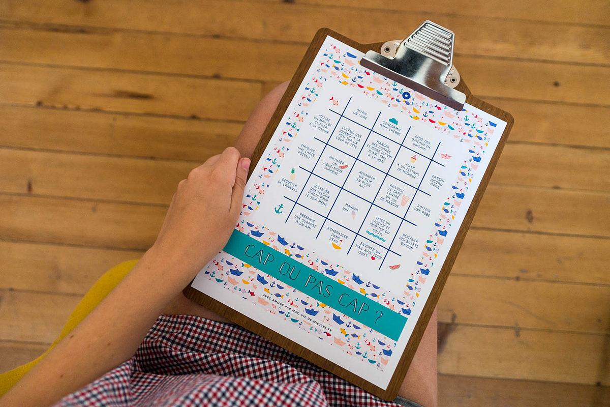 Bingo de l'été à imprimer