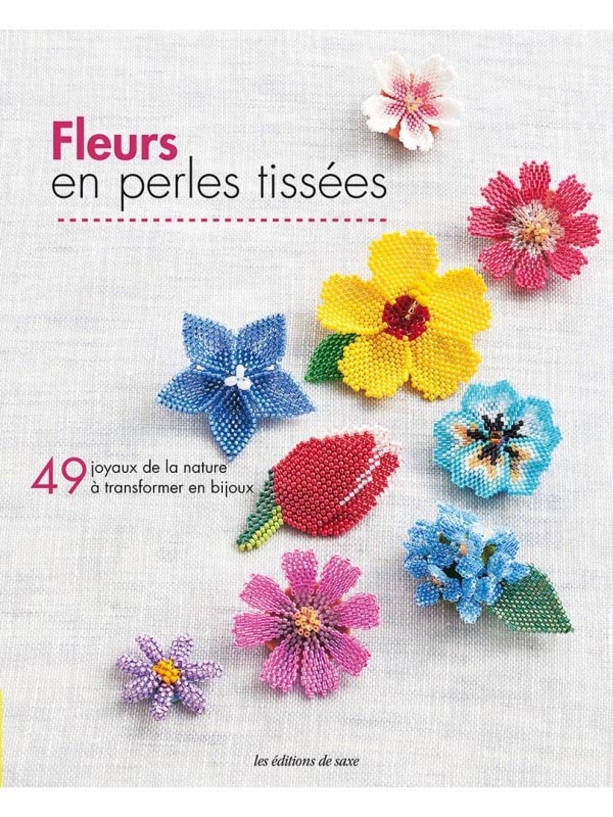 fleurs en perles tissees