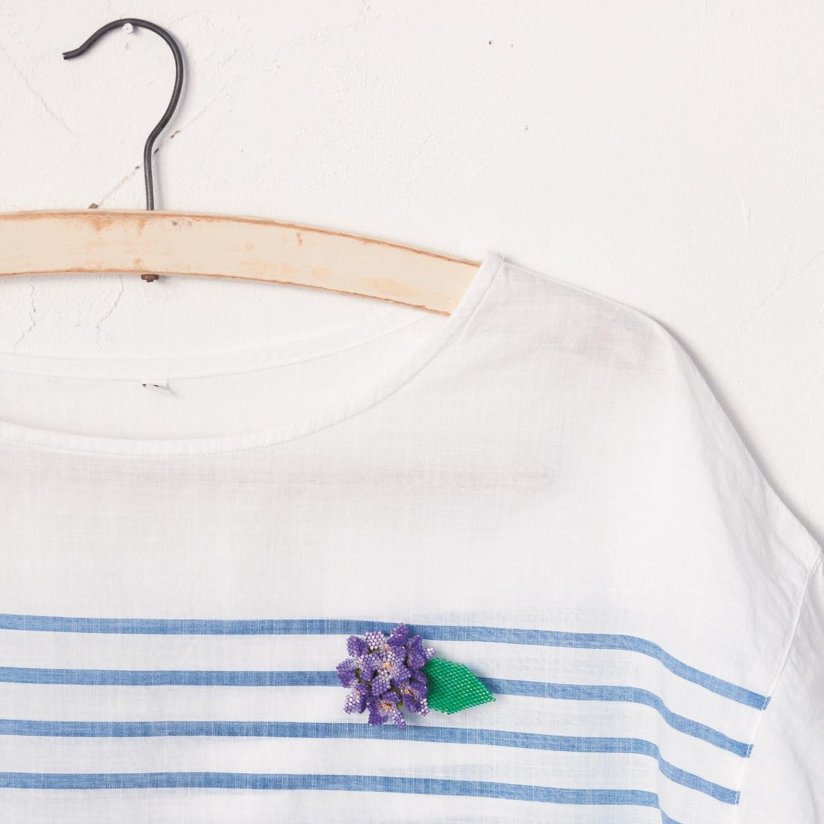fleurs perles brodees miniature
