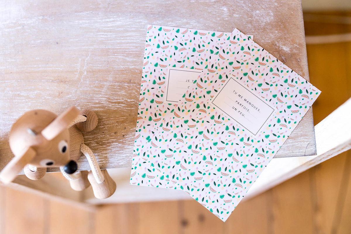 Cartes postales d'été à imprimer par Vie de miettes