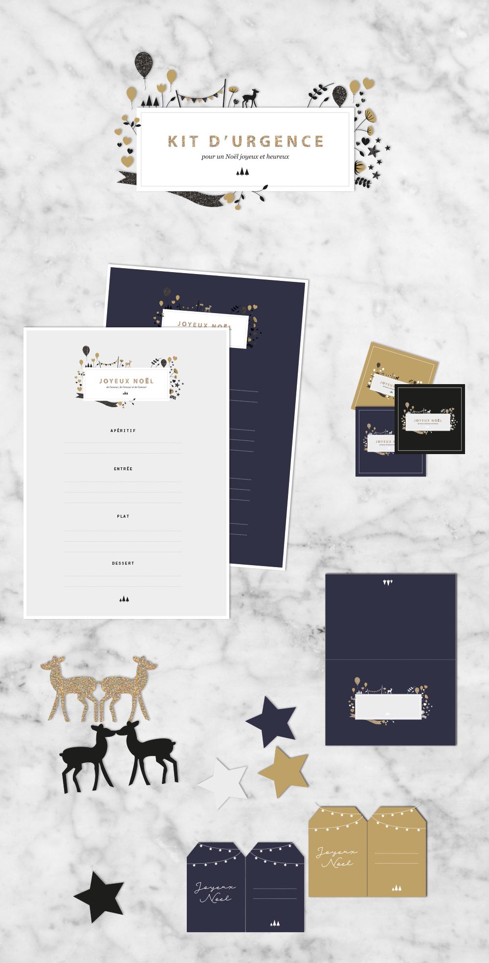 Kit de Noël à imprimer
