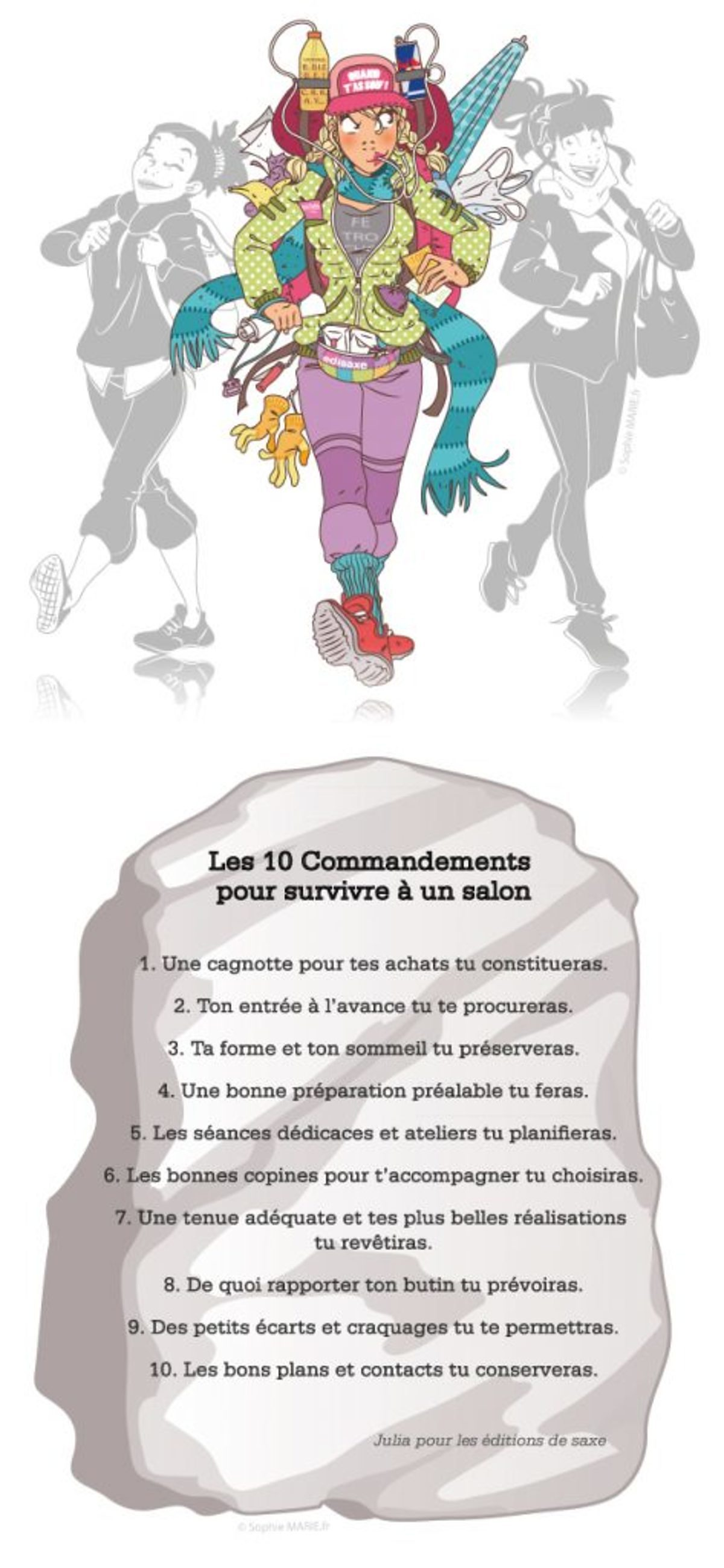 10 Commandements Survivre Salon Humour