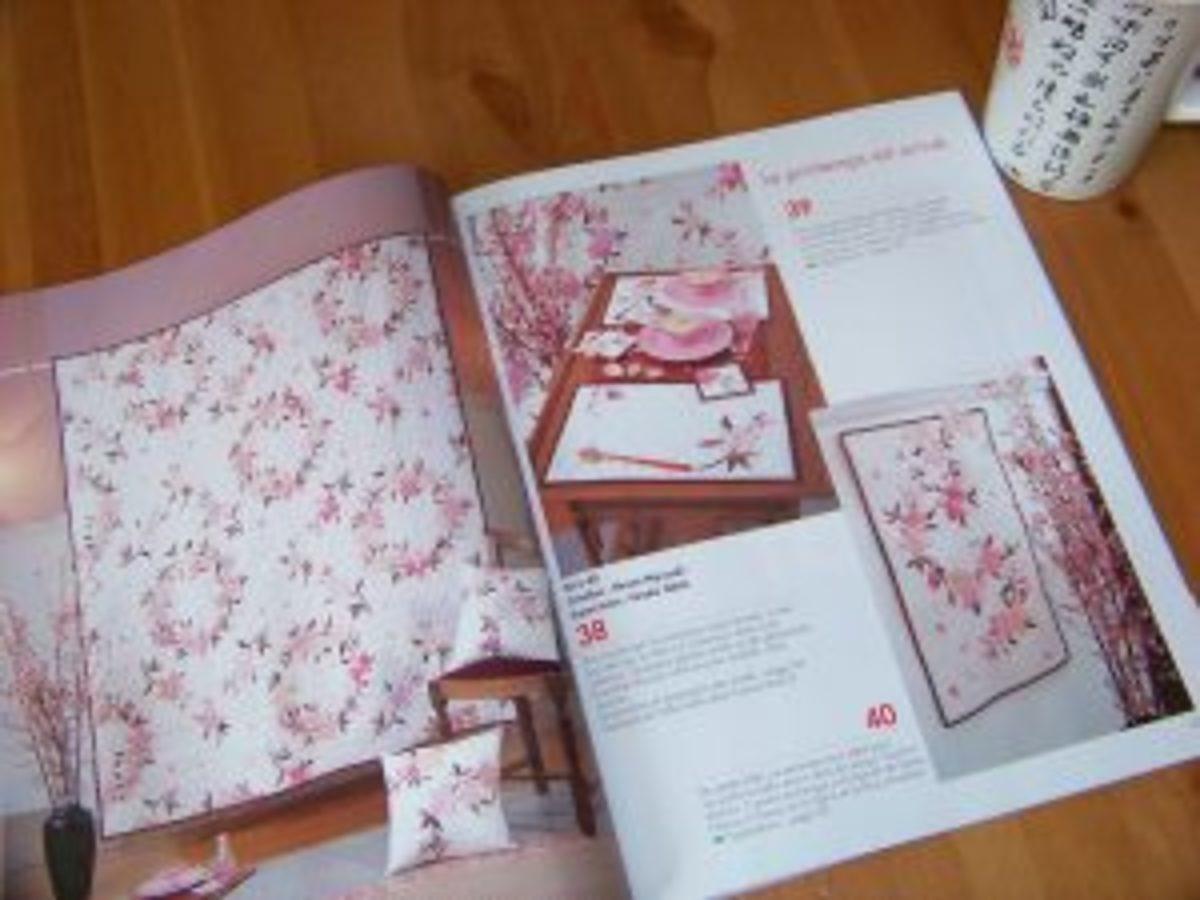 Quilt Japan fleurs cerisiers