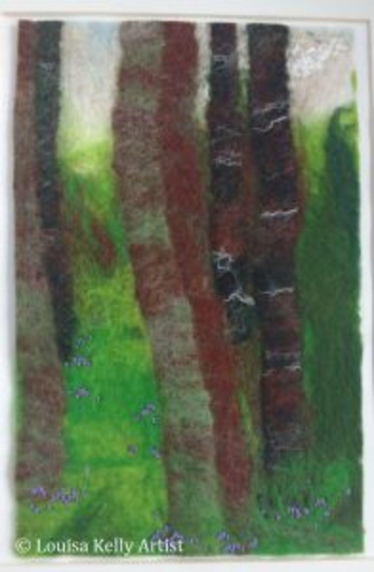 Tableau laine feutrée Louisa Kelly Irlande