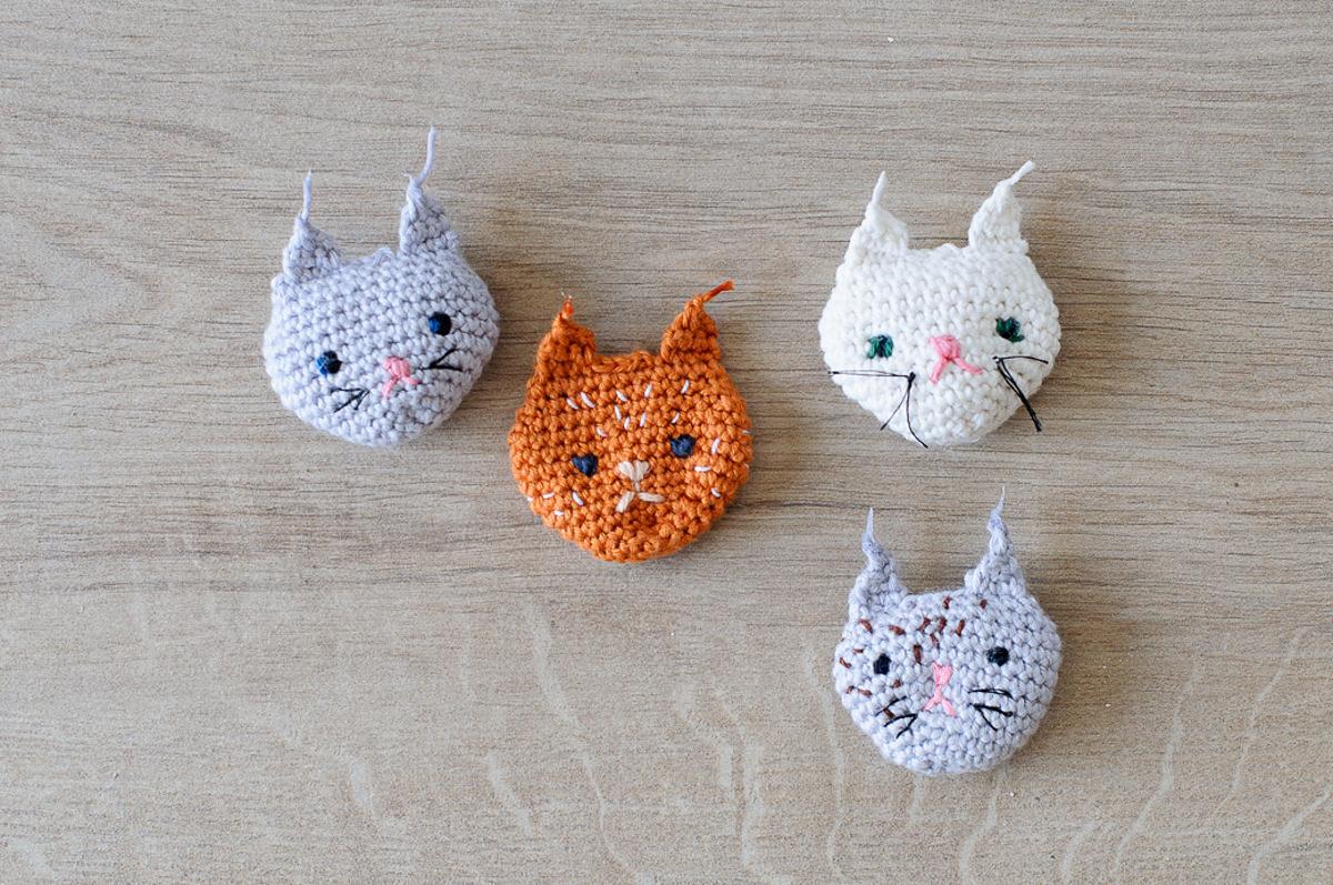 passion chats le tuto des petites t tes au crochet saxe. Black Bedroom Furniture Sets. Home Design Ideas