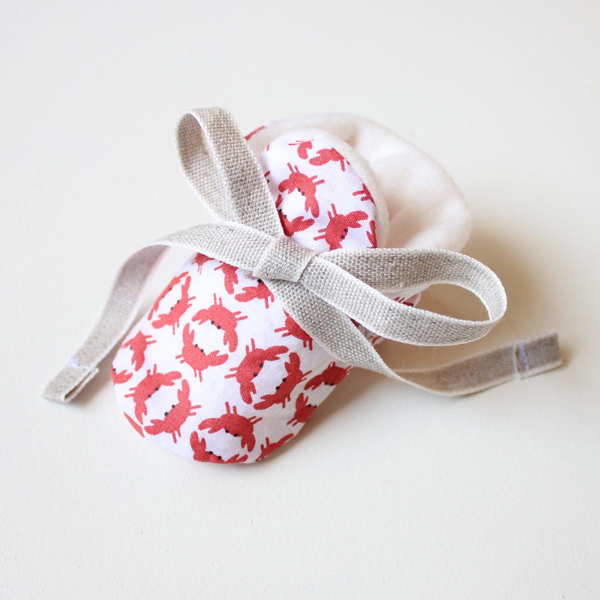 La couture selon pauline tuto chaussons b b saxe - Tuto chausson bebe couture ...