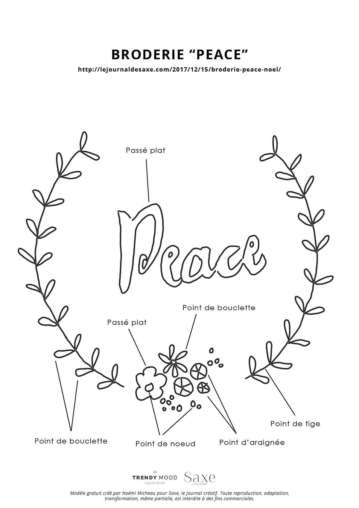 Modele Gratuit Hoop Art Peace A Offrir A Noel Saxe