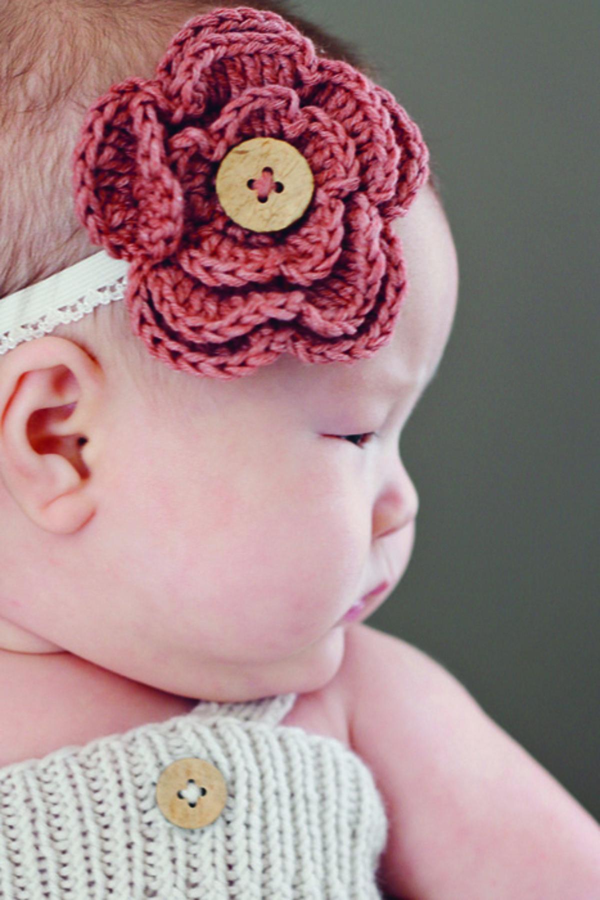 Fleur Au Crochet Pour Une Fillette Coquette Tuto Saxe