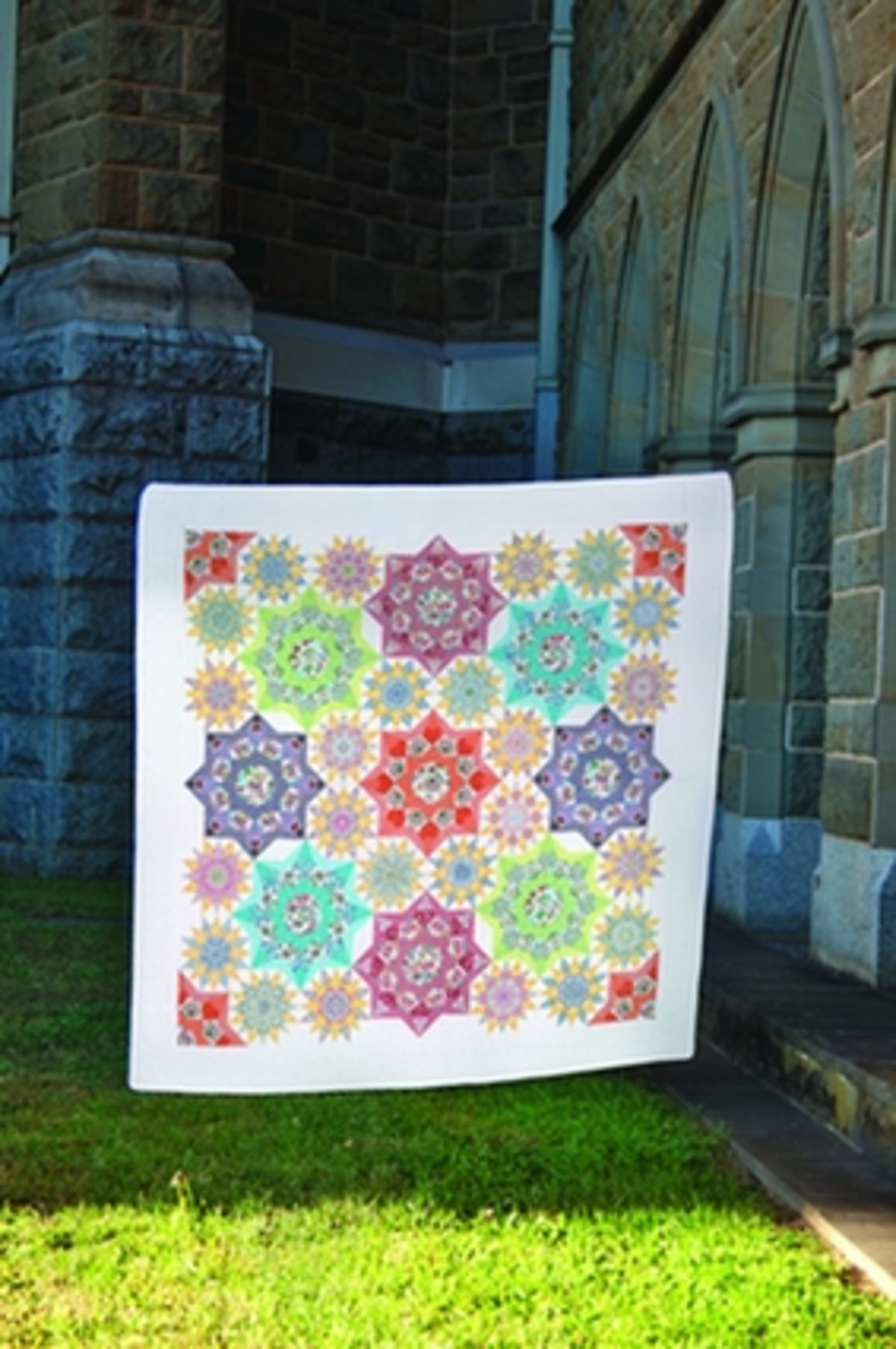 Quilt complexe English Paper piecing Sharon Burgess
