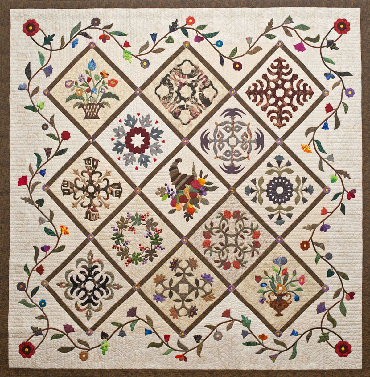 some flowers quilt baltimore rita frizzera