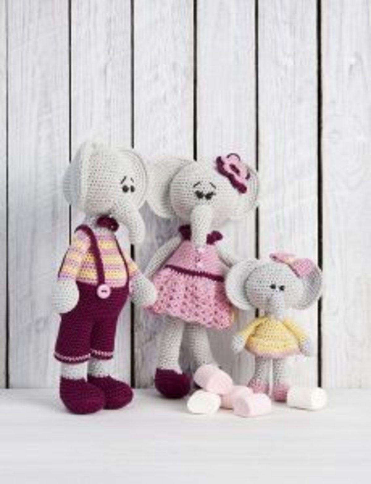 SLIV236 marygurumi éléphant crochet catona