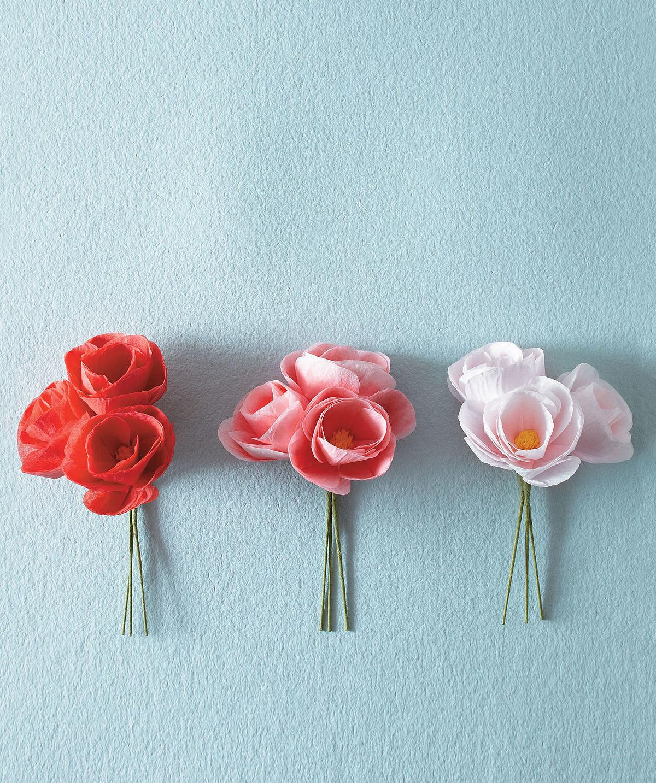 MLDI311 begonia fleurs en papier DIY