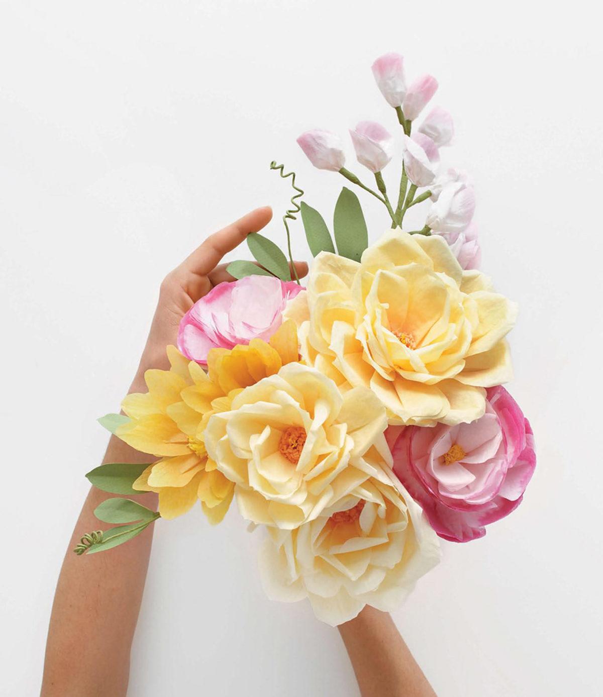 MLDI311 bouquet fleurs en papier DIY