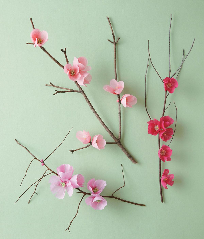 MLDI311 cerisier fleurs en papier DIY