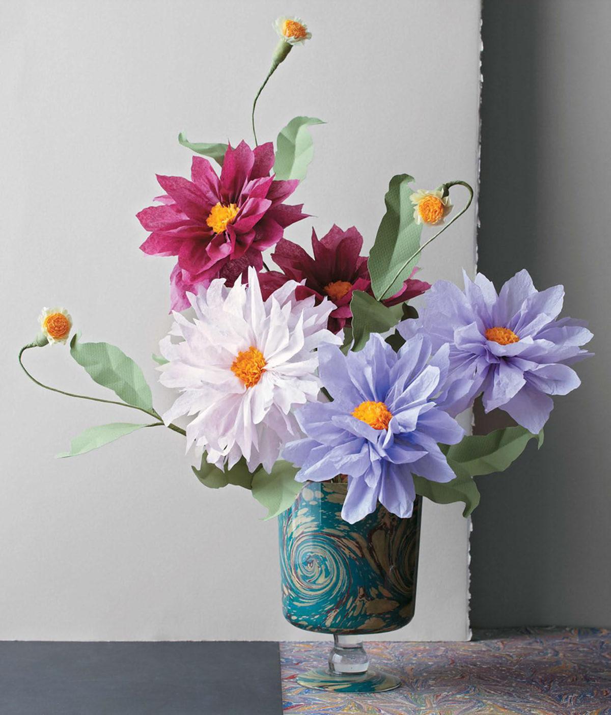 MLDI311 dahlia fleurs en papier DIY