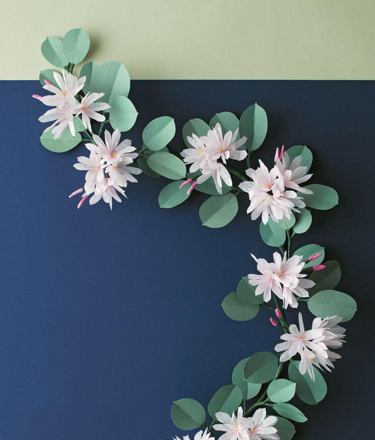 MLDI311 jasmin fleurs papier DIY