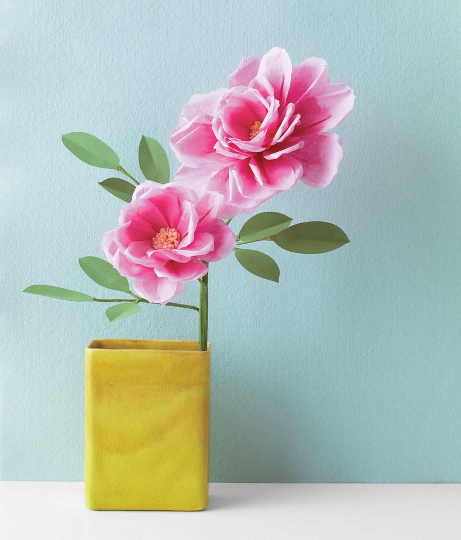 MLDI311 rose fleurs en papier DIY