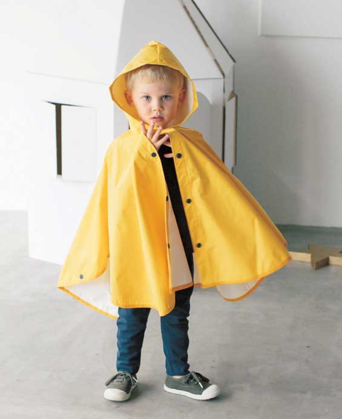 JALI254 poncho enfant modèle couture
