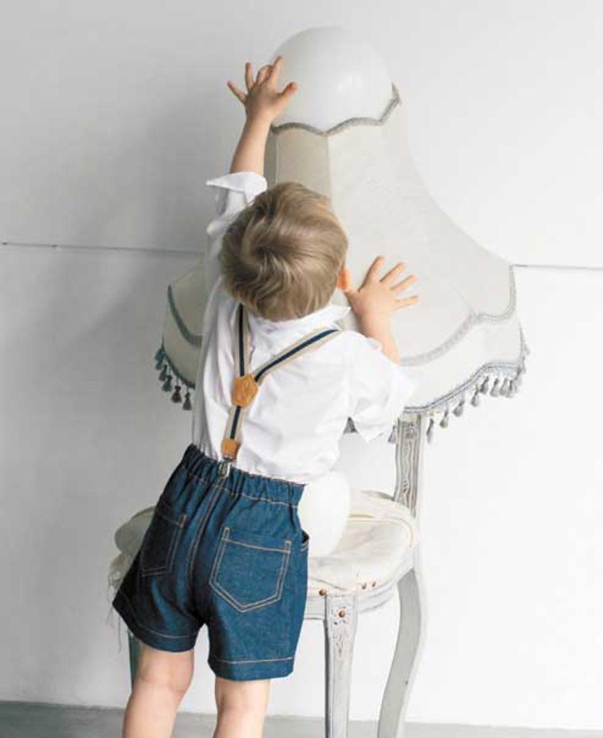 JALI254 short enfant modèle couture
