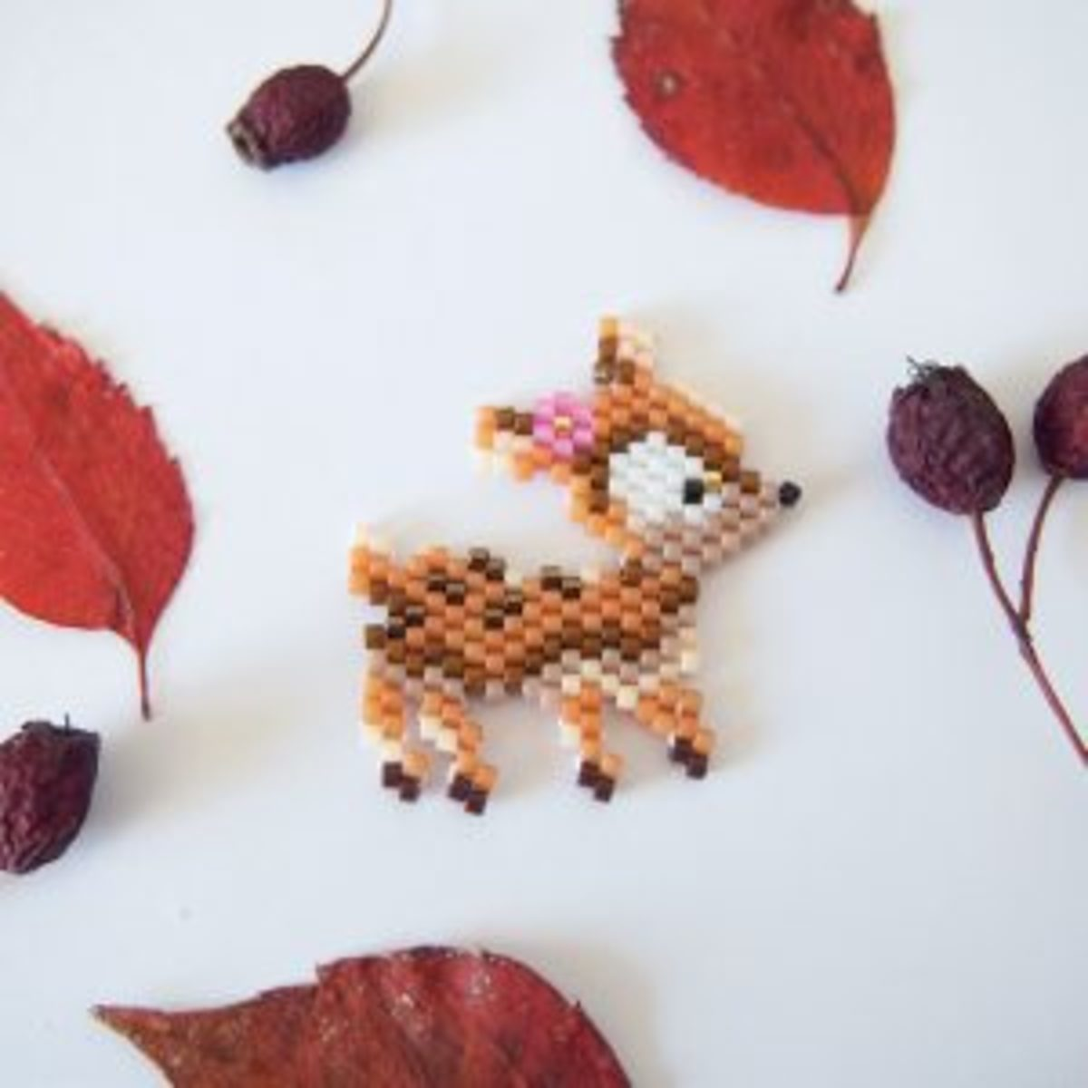 Brick stitch tissage de perles animaux