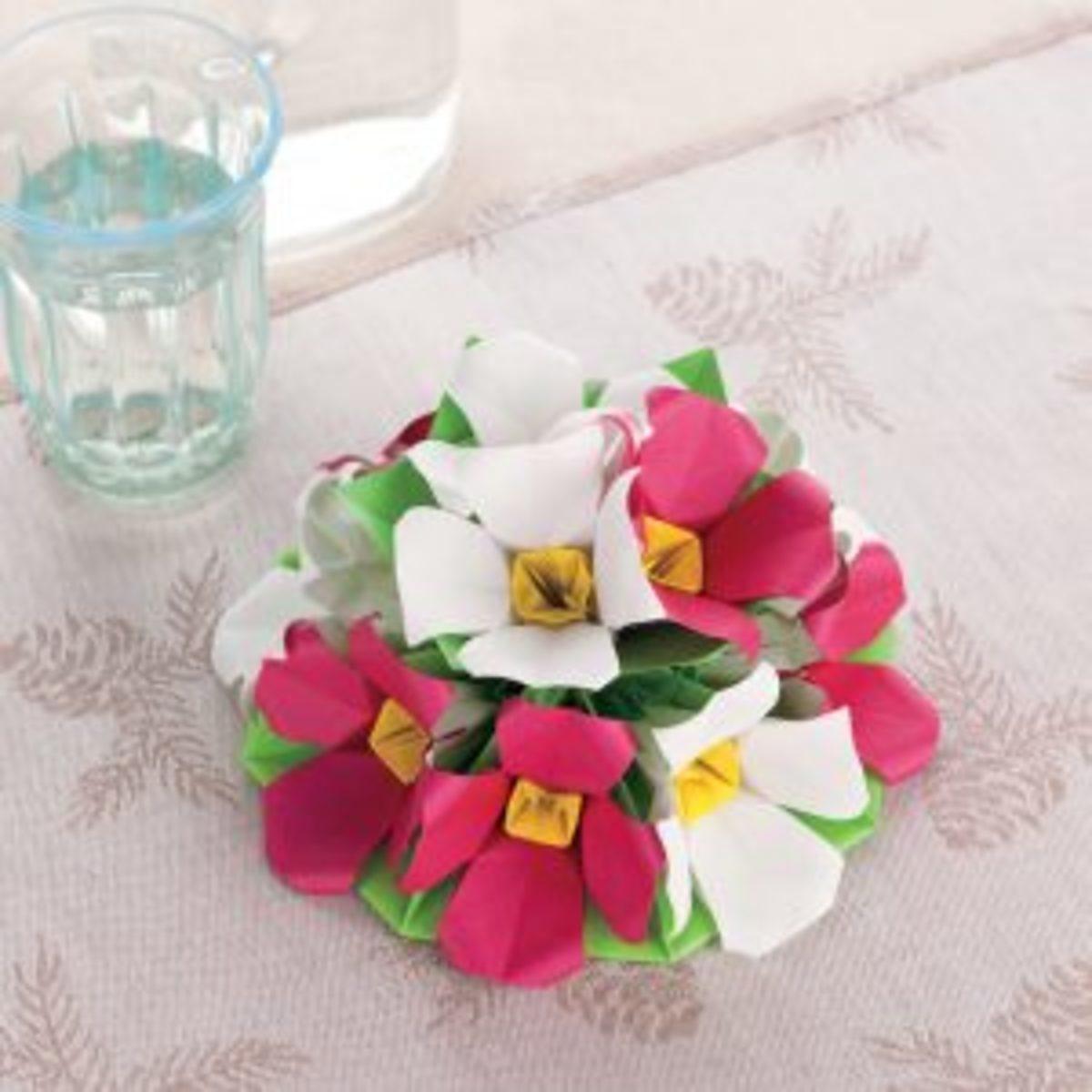 Bouquet en origami cadeau fête des mères