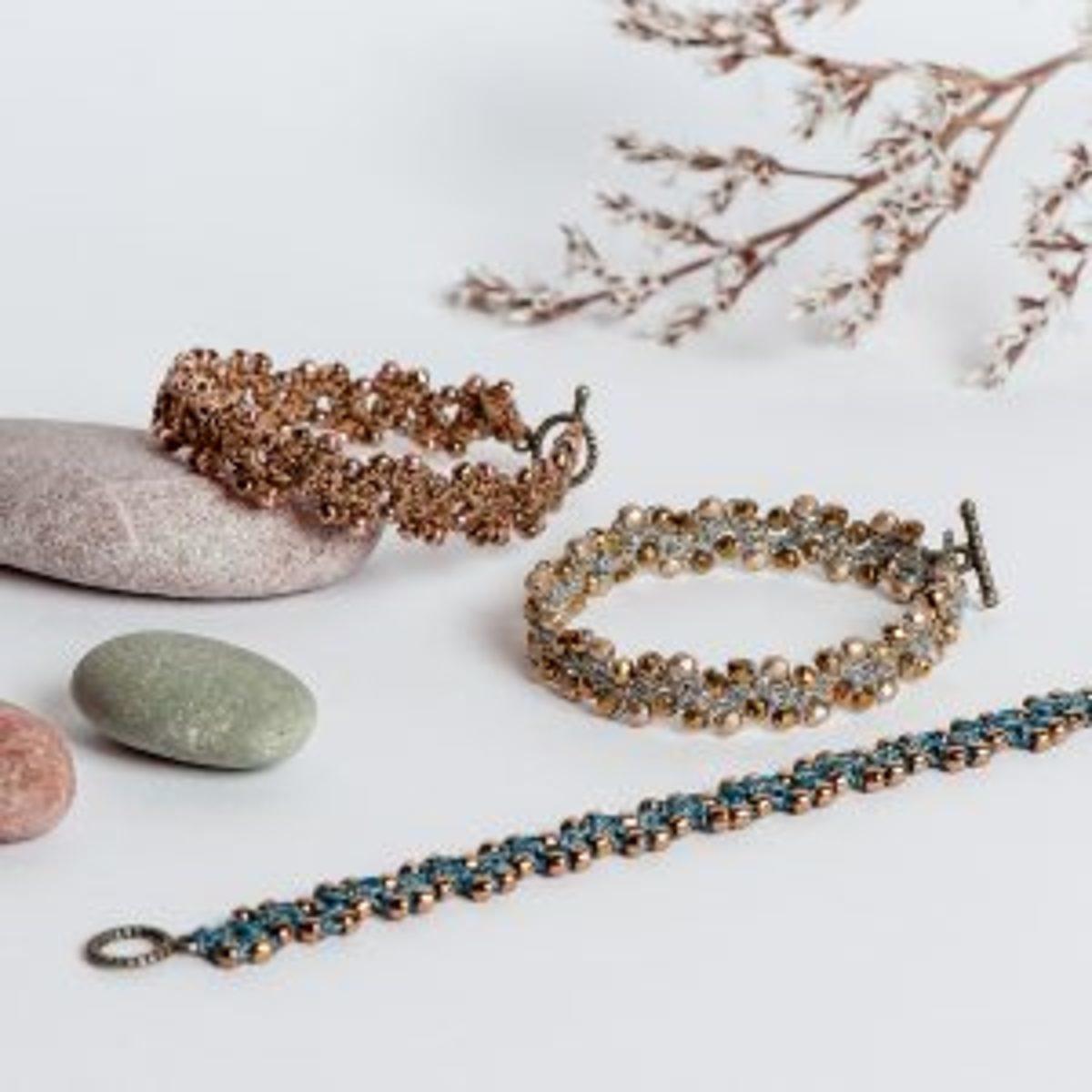 Bracelet perlé crocheté cadeau DIY fête des mères
