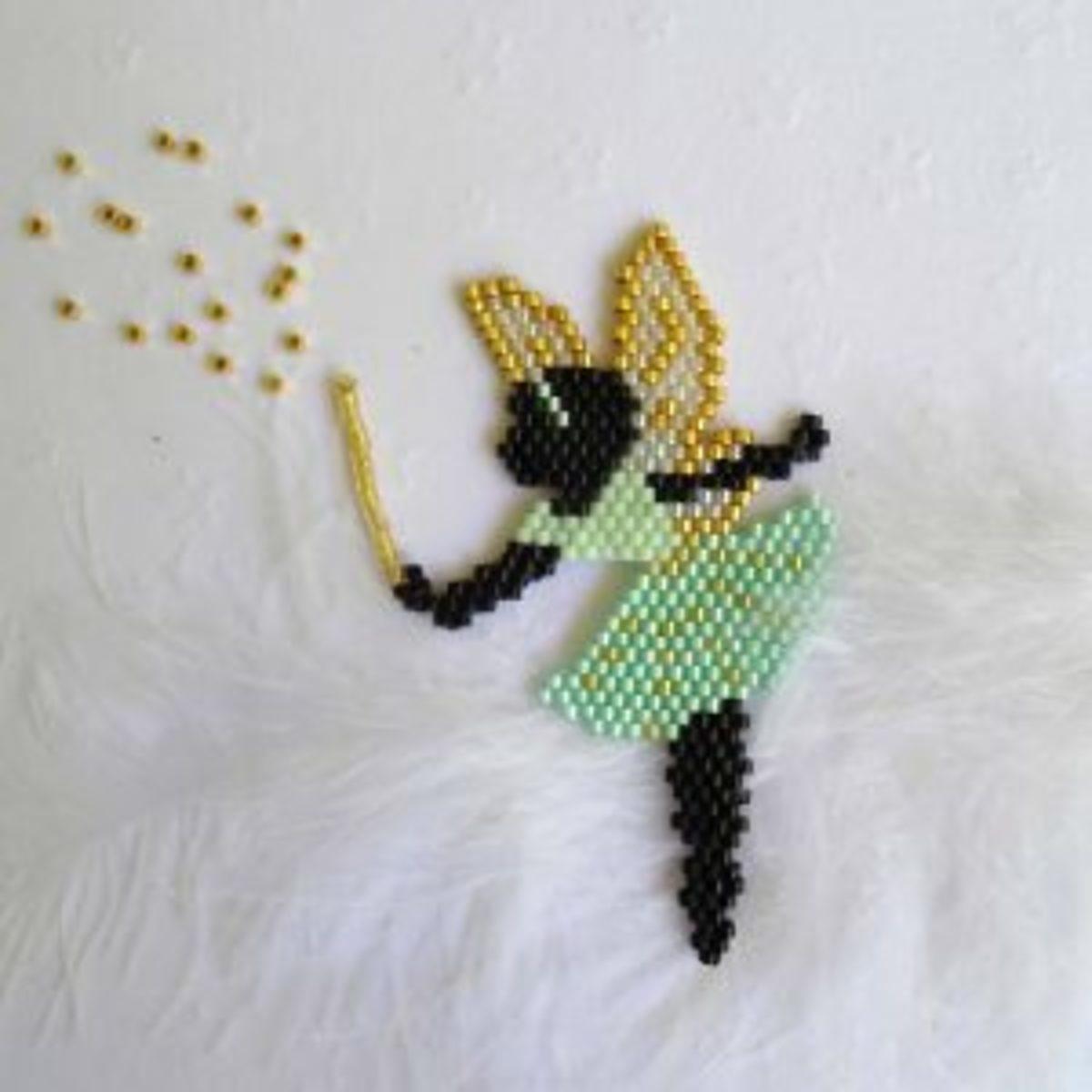 tissage de perles Brick stitch fée