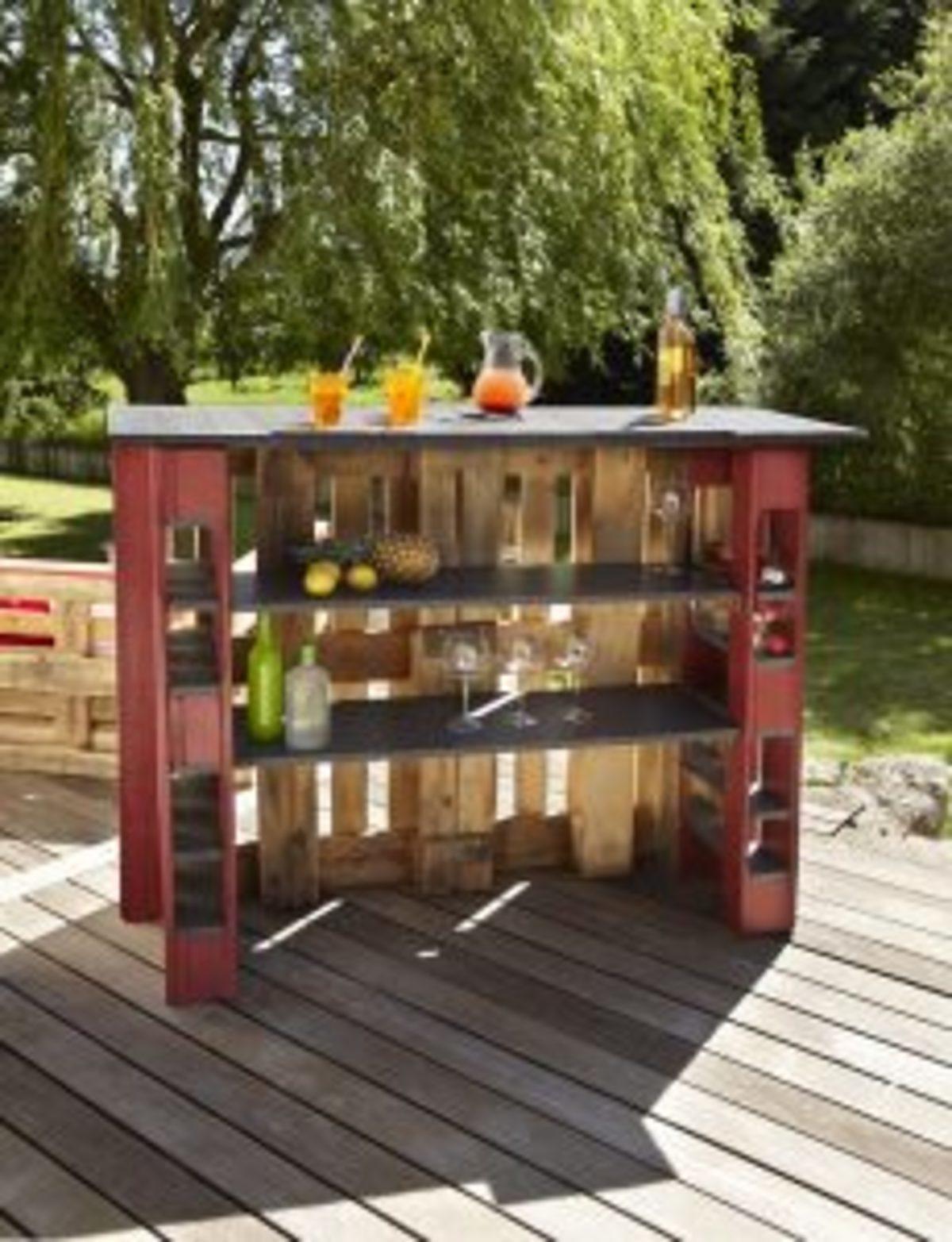 bar en bois de palettes