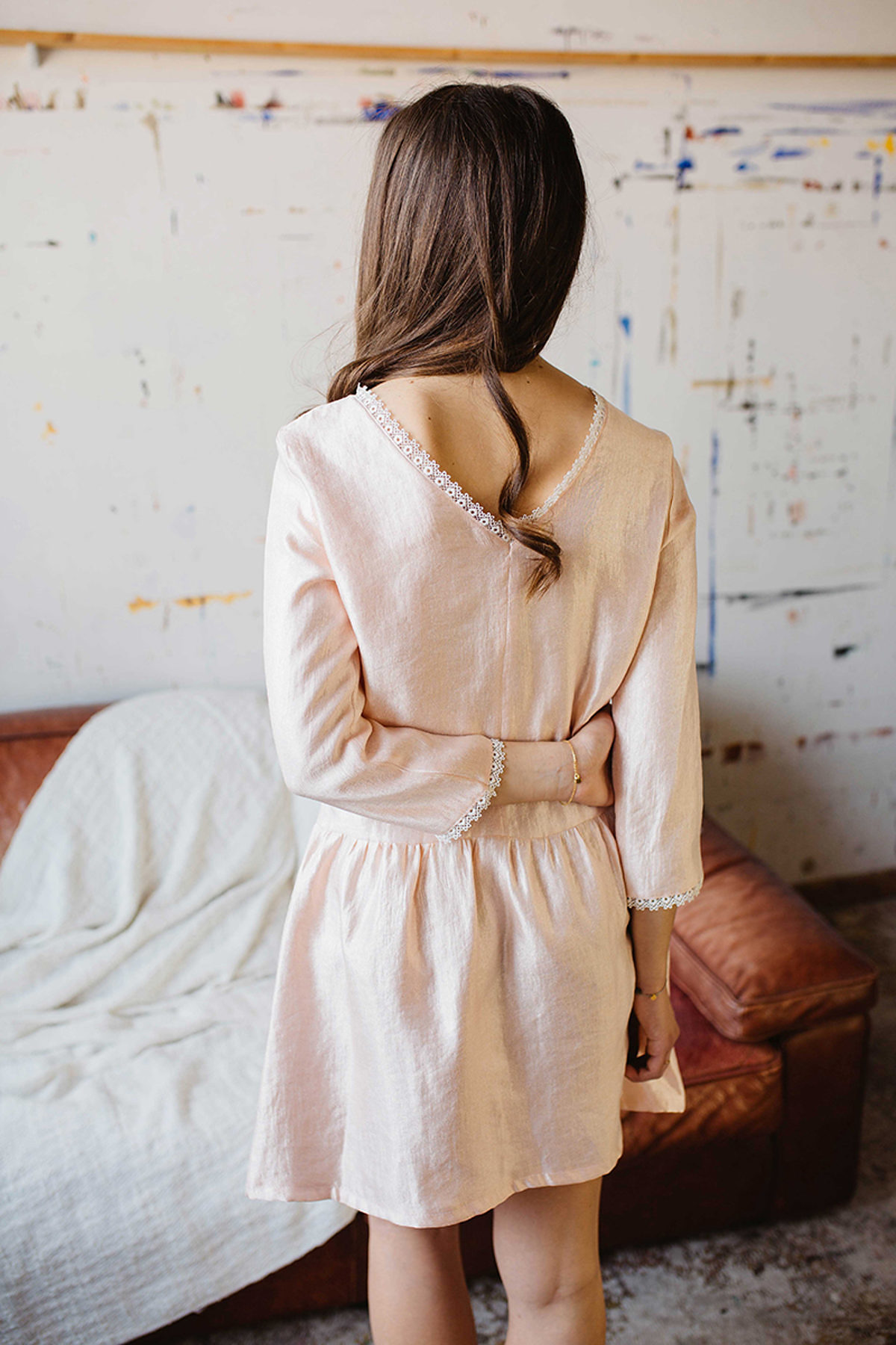 ma petite-garde robe robe muse beige
