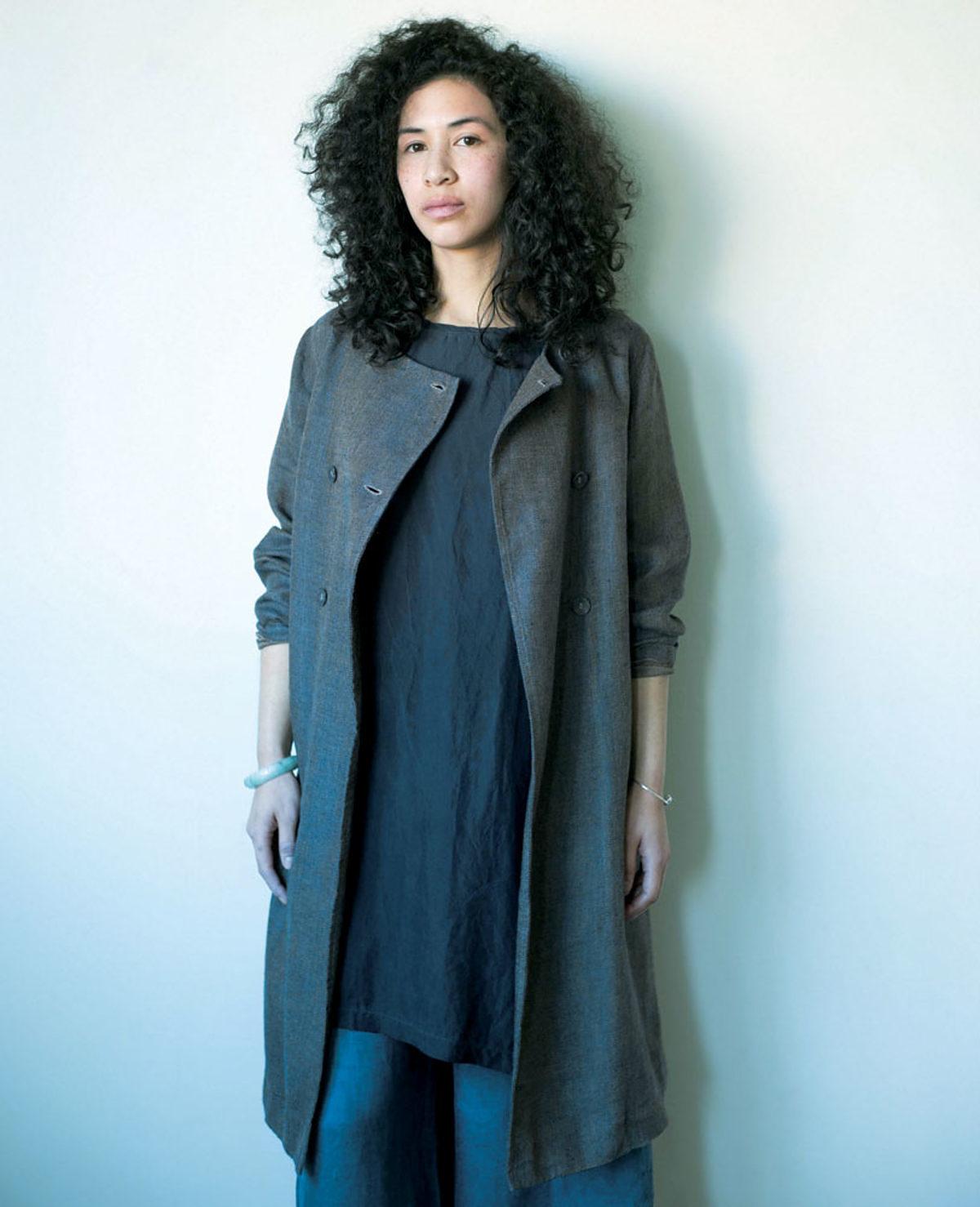 Couture vêtements en lin veste