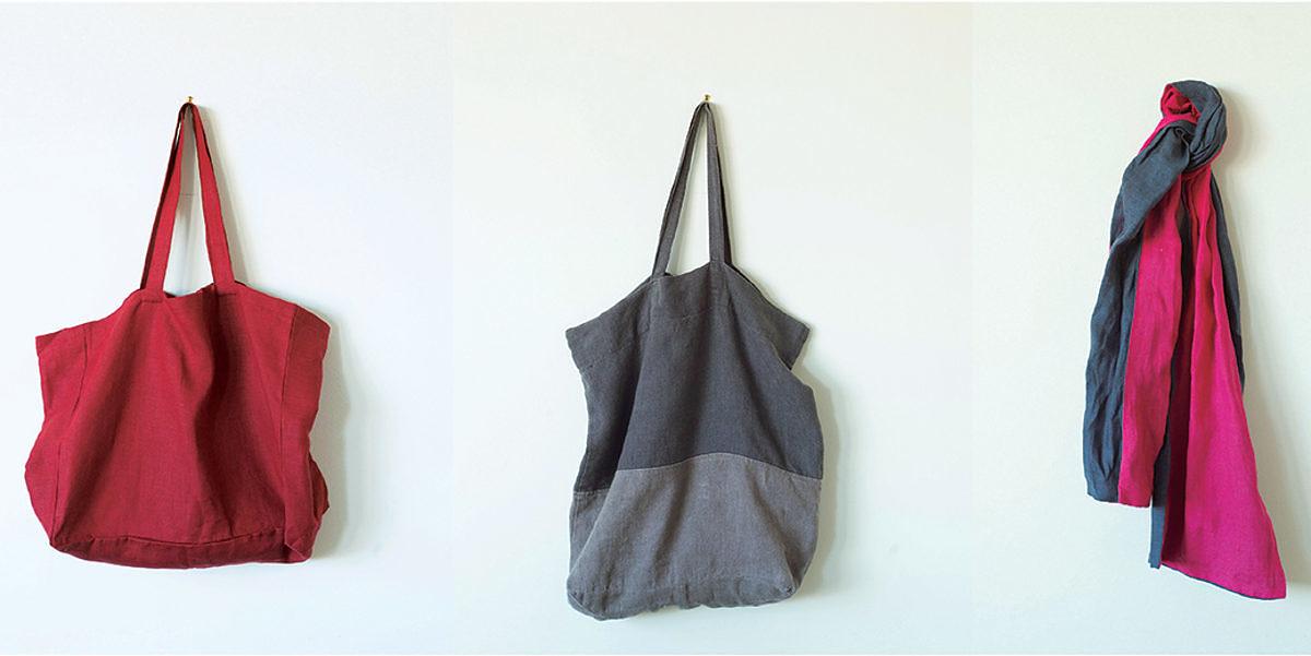 couture sacs écharpe en lin