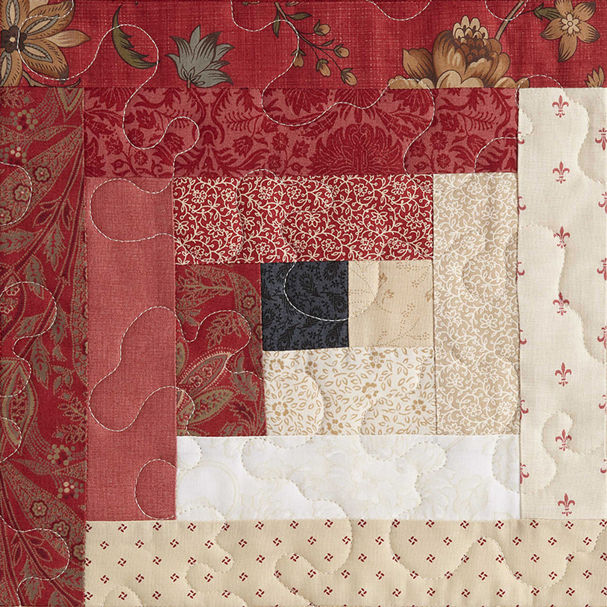 Log cabin traditionnel patchwork