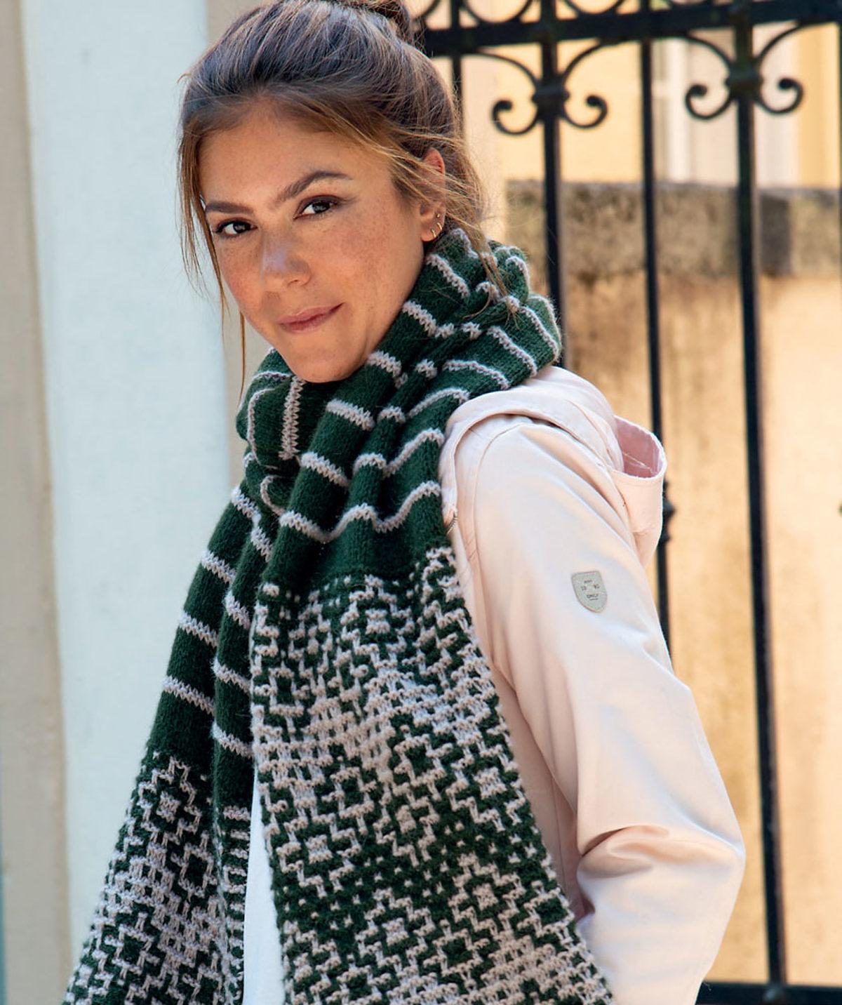 echarpe-tricot-mosaique