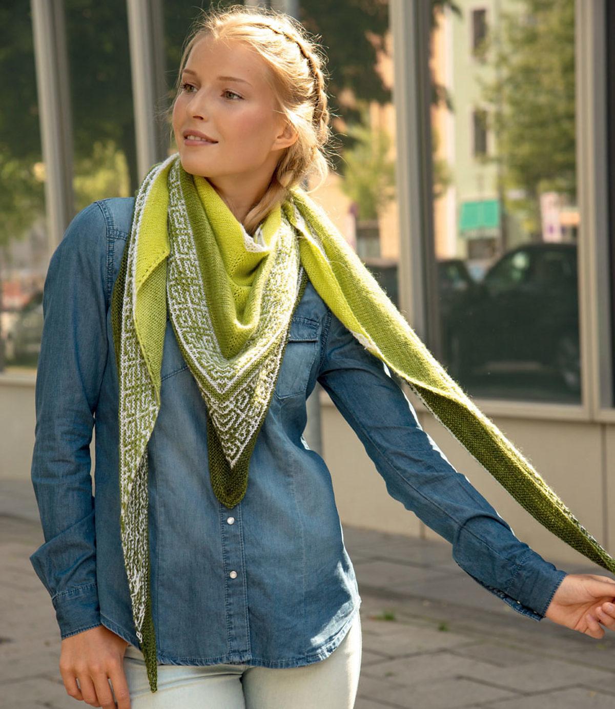 tricot-point-mosaique-chale