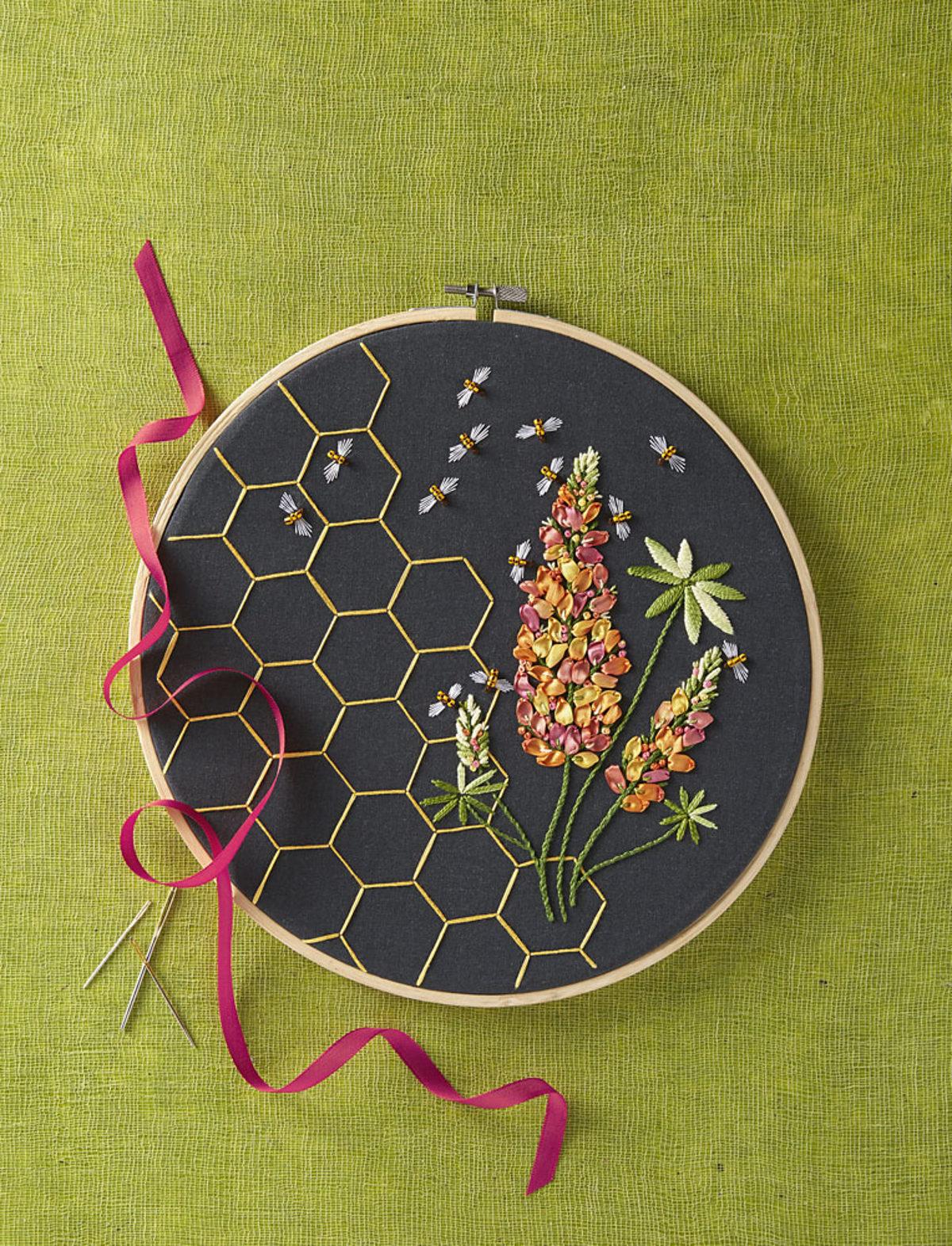 tambour-brode-au-ruban-hoop-art