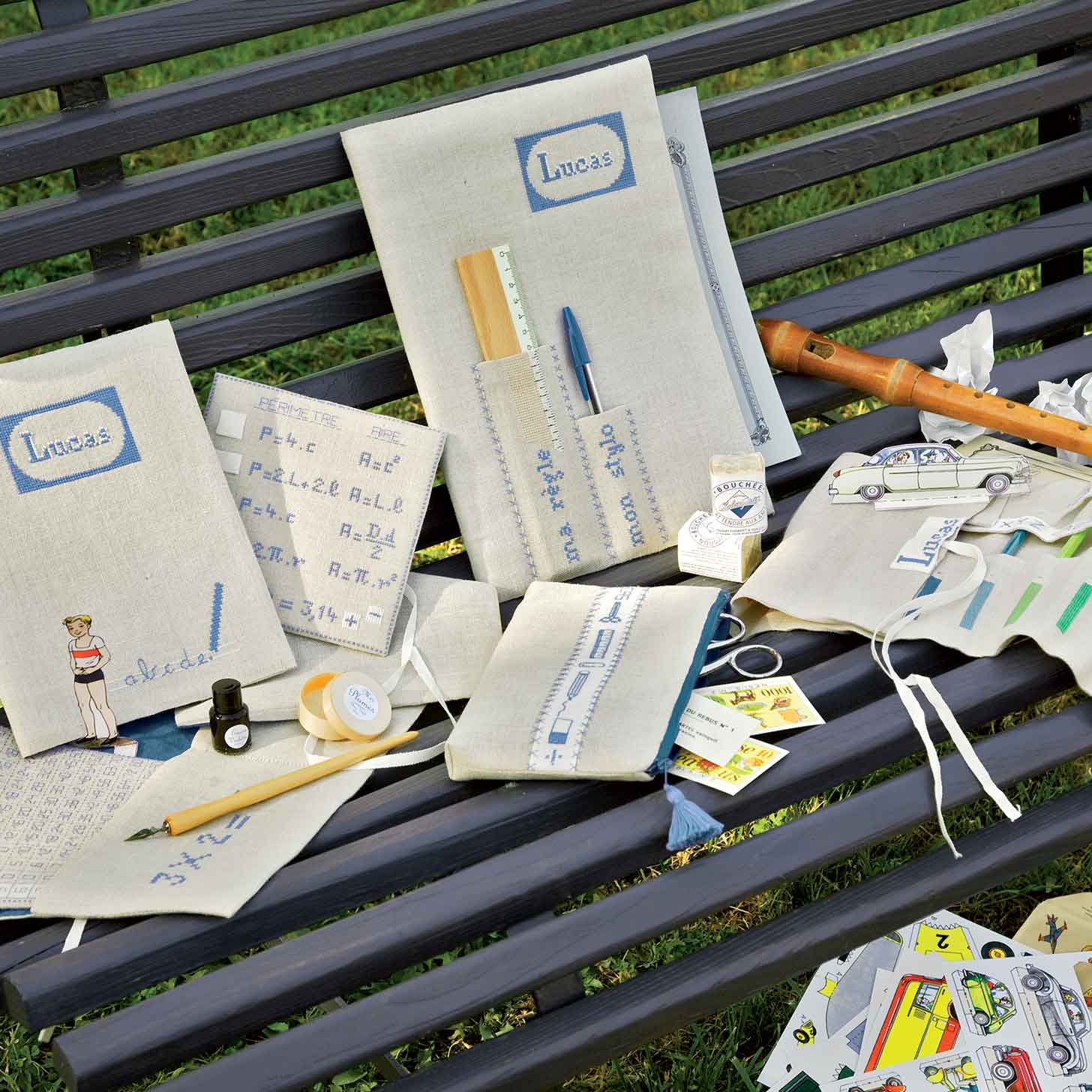 personnaliser ses fournitures scolaires broderie